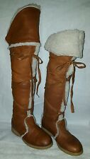 canada vintage tall mukluk over the knee fur lined boots 7/8 sz 8 but runs small