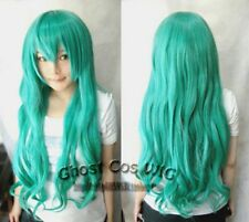 New Fashion Long miku Hatsune Green Cosplay Wig + free wigs cap