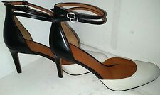 Marc By Marc Jacobs Double Strappy  Black and Pearl Size 38 1/2