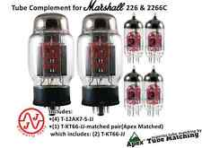 """Tube Set complement for Marshall 226 & 2266C """"Apex Matched"""" for guitar amplifier"""