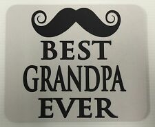 Mouse Pad Custom Printed Best Grandpa Ever Logo Advertisement Tick New