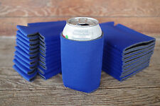 LOT of 25 Royal BLUE Can Koozies Blank Beer Soda Coolers 12 oz Printable Coolies