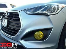 Hyundai Veloster Turbo Yellow Fog Light OverlaysTINT Vinyl WRAP COVER JDM KDM