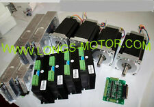 Top Selling Nema34 Stepper Motor 4Axis CNC KIT 1600oz & Driver DM860A 350W/60V
