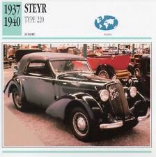 1937-1940 STEYR TYPE 220 Classic Car Photograph / Information Maxi Card