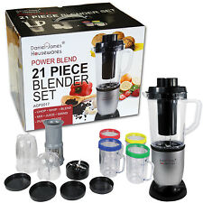 Pieza 21 Power mezcla Licuadora Set Smoothie Maker Chopper Amoladora Procesador De Alimentos