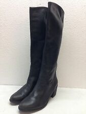 #8 Sam Edelman Loren Black Leather Heeled Riding Boot Women's Size 8.5 M