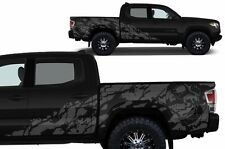 Custom Vinyl Decal NIGHTMARE Wrap for 4D Short Bed 16-17 Toyota Tacoma TRD Gray
