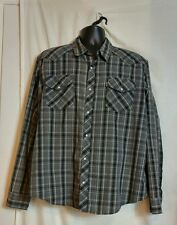 Levis Red Tab Mens Long Sleeve Western Pearl Button Shirt Size XL