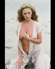 Sybil Danning Open Shirt Holding Breast Color Photo