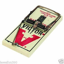 12 NEW VICTOR M200 WOODEN SNAP SPRING RAT TRAPS