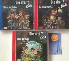 3 Audio CD Die drei Fragezeichen Kids 32 33 41 Nacht Gruselfalle Haie Neu OVP