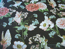 3 Yards Quilt Cotton Fabric - Hoffman Fairy Briar Fairies and Flowers Brown Met