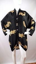Vintage LAISE ADZER Silk Batik Crocodile Art to Wear Lagenlook Tunic OSFM B:52""