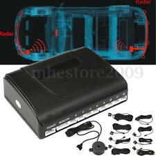 8 Parking Sensors Car Reverse  Buzzer Sound Alarm Backup Radar Alert System Kit