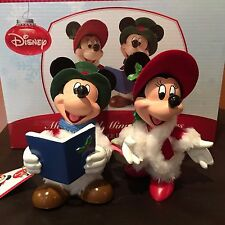 Disney Possible Dreams Santa Mickey Minnie Christmas Carolers Department 56