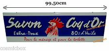 SAVON COQ d'OR pub déco loft Grande PLAQUE EMAILLEE de publicité ancienne animal