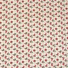 Vintage Crantex Tiny Pear & Apple Calico Made in USA, Cotton Fabric, Per Yd