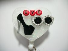 PERSONALIZED MOVIE STAR SHOES RN NURSE RETAIL STORE HAIRDRESSER ID BADGE HOLDER