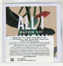 (GB852) Washed Out, All I Know - 2013 DJ CD