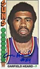 Suns Gar Heard signed 1976 -77 Topps Card