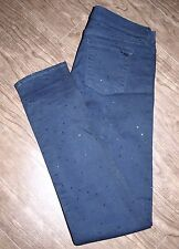 Juicy Couture Size 29 Womens Skinny Fit Navy with Rhinestone Polka Dot Jeans