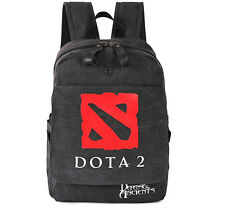 Game DOTA 2 Logo Canvas Backpack Schoolbag Student Boy Girl Toy Gift New