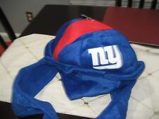 MENS/WOMENS NEW YORK GIANTS HELMET Dangle Hat with hand warmers plush NWT