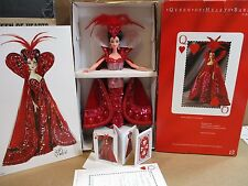 Bob Mackie Queen of Hearts Barbie Doll Hand Made Sequins Red Gown + Shipper Q1
