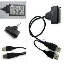 SATA 7+15 22 Pin to USB 2.0 Adapter Cable For 2.5 HDD Laptop Hard Disk Drive MTC
