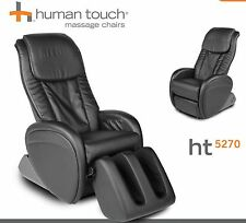 Black iJoy HT-5270 Human Touch Leather Massage Chair Recline - Massaging Lounger