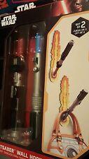Lightsaber Wall Hooks Star Wars THINKGEEK  NIB MISB NEW LIGHT SABERS Blue & Red