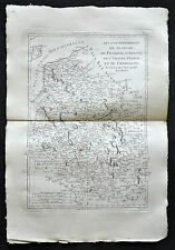 FLANDRE, PICARDIE, ARTOIS, CHAMPAGNE carte geographique ancienne, old antic map