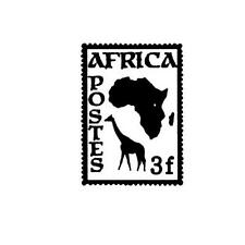 AFRICA POSTAGE STAMP Unmounted rubber stamp, #17