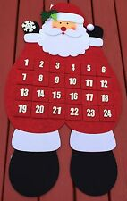 Felt Santa Advent Calender, 38cm x 70cm, lovely item
