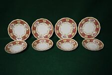 Vintage Queen Anne Regency Fine Bone China - 4 Saucers - 4 Bread & Butter Plates