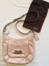 "COACH KRISTIN ""PALE PINK"" LEATHER HOBO SHOULDER HANDBAG 16808 CROSS BODY"