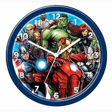 MARVEL AVENGERS WALL CLOCK NEW OFFICIAL IRON MAN HULK CAPTAIN AMERICA