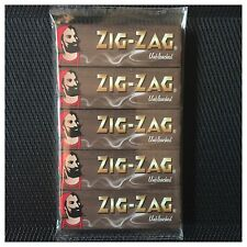5 PACK GENUINE ZIG-ZAG *UNBLEACHED* (STANDARD SIZE) ROLLING PAPERS