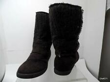 "ROXY 'JOELLE' BOOT 9M BROWN CLOTH 10"" COMFORT POLY CASUAL BOOTS CUT IN HEEL MGK"