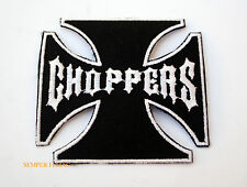 CHOPPERS BLACK AND WHITE MILITARY US ARMY MARINE NAVY AIR FORCE HAT PATCH WOW