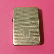 RARE VINTAGE STORM KING CIGARETTE LIGHTER REFILLABLE SILVER with WAVE PATTERN