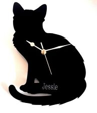 CAT CLOCK WALL MOUNTED WITH CATS NAME