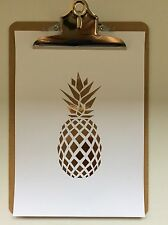 Copper Foil Print , Pineapple, Home Decor, Wall Art