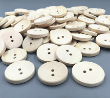 25pcs Wooden Beige 2-holes Round buttons Fit sewing scrapbooking crafts 25mm