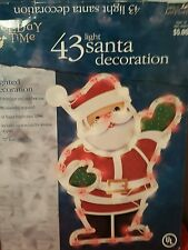 Christmas SANTA Window Light Silhouette Lighted Decor Indoor Outdoor