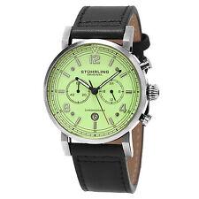Stuhrling Original Men's 'Aviator' Quartz  and Leather Dress Watch 583.02