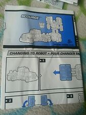 Transformers RID SCOURGE (SMALL) INSTRUCTION BOOKLET