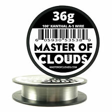 100 ft - 36 Gauge AWG A1 Kanthal Round Wire 0.127 mm Resistance A-1 36g GA 100'
