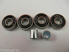 4 x ABEC 11 SCOOTER BEARINGS *NEW*BLACK SHIELDS